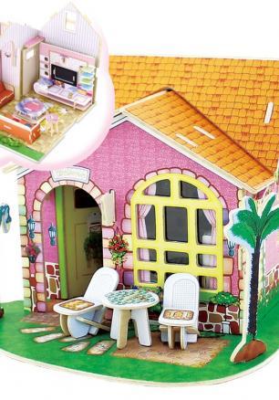 """3D Дървен пъзел """"Обзавеждане на Дневна стая"""""""