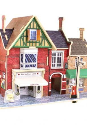 """3D Дървен пъзел """"Британска модна къща"""""""